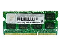 G.Skill 8GB PC3-10600 8GB DDR3 1333MHz geheugenmodule - modules (8 GB, 1 x 8 GB, DDR3, 1333 MHz, 204 Pin SO-DIMM)