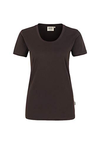 "HAKRO Damen T-Shirt ""Classic"" - 127 - chocolate - Größe: L"