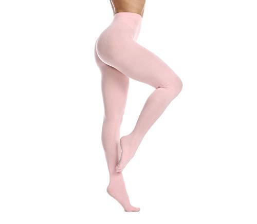 Frola Nur die Damen Strumpfhose 80 Den Blickdicht Microfaser Weich Damenstrumpfhose (L/XL, Rosa)