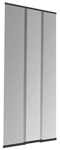 Windhager Insektenschutz PLUS Türvorhang Easy Lamellenvorhang Fliegengitter individuell kürzbar, 95 x 220 cm, anthrazit, 04314