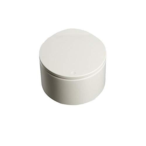 Adaap Cubo de basura de plástico, cubo de basura, cubo de basura multifuncional con tapa, adecuado para dormitorio, baño, oficina y cocina, material: plástico caqui