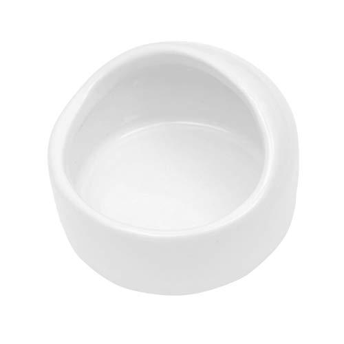 POPETPOP Hamster Näpfe Kleintiere Keramik Futterschale Nagetier Fütterung Zubehör (Weiß)