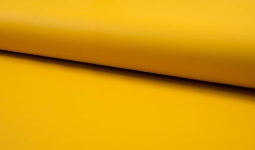 Stoff für Regenjacken, wasserabweisend in Gelb als Meterware zum Nähen von Erwachsenen, Kinder- und Baby Kleidung, 50 cm