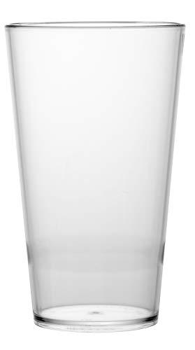 """Garnet Bicchiere Riutilizzabile """"Conic 40"""" – Set da 6 Pezzi – Lavabile in lavastoviglie-50 Bordo cl a Servizio-Made in Italy, Plastica"""