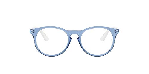 Ray-Ban 0ry1554 Gafas, TRANSPARENT BLUE, 48 Unisex