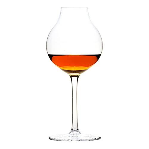 DealMux Copa de vino tinto 2 piezas Taza de cristal Taza Bud Wine Tasting Glass Bar Decoración elegante (Color: Claro, Tamaño: 18.2x8.1cm)