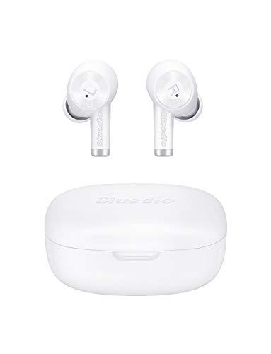 Bluedio Ei Bluetooth Kopfhörer in Ear, Ohrhörer Kabellos,Touch-Control, 40 Stunden Spielzeit, USB C, Bluetooth 5.0 Mini Headsets für Android/IOS, Weiß