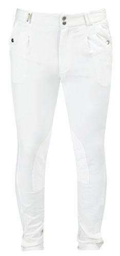 Caldene Gloucester Concurrence Men's Regular Pantalon d'équitation Blanc Blanc 36-inch