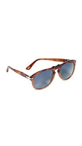Persol Unisex PO0649 Sonnenbrille, Mehrfarbig (Gestell: havana, Gläser: blau-verlauf polarisiert 1025S3), Medium (54)