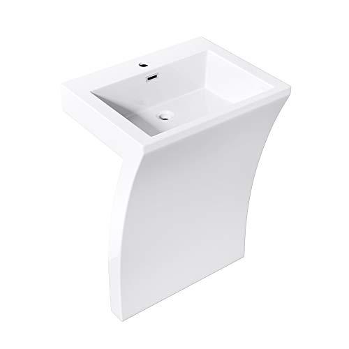 doporro 58x48x84 cm Design Standwaschbecken Colossum07 aus Gussmarmor Waschtisch Waschplatz Standsäule