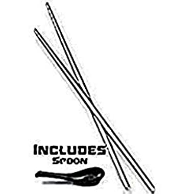Reusable Chopsticks Titanium Travel Chopstick Pair in Silver Case with Soup Spoon for Japanese, Chinese, Korean & Asian Dishes - 9 Inch - Lighter than Steel - In Presentation Box & Dishwasher Safe