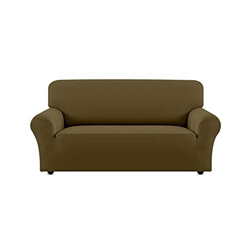 1pcs Sofa-Sitzabdeckung Elastizität Stretch Couch-Abdeckung, Braun, 2seat (145-185cm)