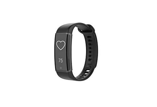 Lenovo HX03W Cardio Plus Smartband Podómetro, Pulsómetro, Monitor de Actividad Tracker, Fitness y Ejercicio, Bluetooth, Reloj, Alarma, Recargable, Pantalla LCD, Ajustable, Android, iOS, (Negro)