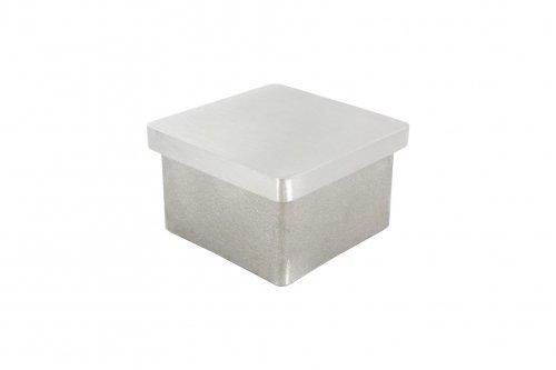 V2A Einsteckkappe, für Vierkantrohr 50 x 50 x 2,0mm