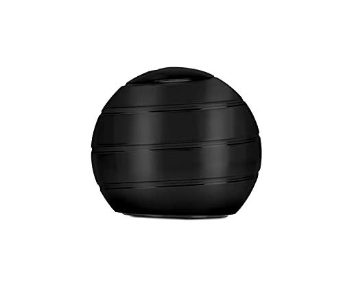 CaLeQi Kinetic Schreibtischspielzeug Office Metal Spinner Ball Gyroskop mit optischer Täuschung für Anti-Angst Stress abbauen Inspirieren Sie innere Kreativität (Schwarz)