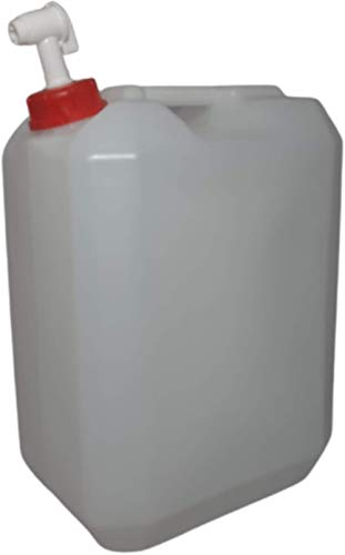 2 Garrafa Grifo 25 litros Agua Camper Aceite contenedor Transparente Boca Ancha Ideal Agua Gasolina y químicos depósito Aire Acondicionado Camping Furgoneta Camper Uso Alimentario (2Garrafas)