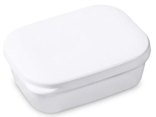 YunKo White Seal Waterproof Travel Portable Soap Box Soap Dish Soap Case Holder Soap Saver Container Box Plastic Container Soap Protectors Saver Dish Easy Cleaning Keep Dish Dry Sealing Strong