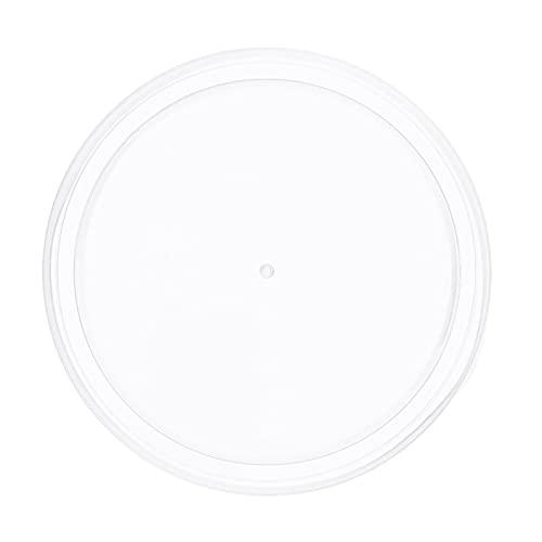 MSemis 12 Piezas Tapas de Tarro de Plástico Blanco Tapa para Vaso Yogur Repuesto Tapas de Tarro de Conserva Tapa de Almacenamiento de Plástico de Grado Alimenticio Claro B OneSize