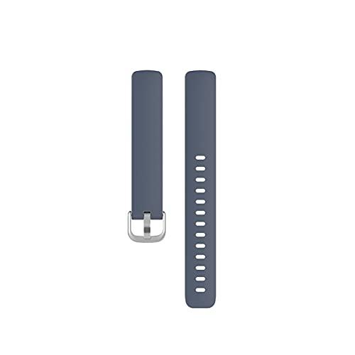 Correa De Silicona Soft Watch Band Reemplazo Pulsera Deportes Smart Fashion Watch Accesorios para Inspire 2 (Color : Grey, Size : L)