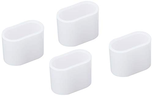 greemotion 130898 Fußkappen-Set für Klappsessel Toulouse, weiß, 4 Stück