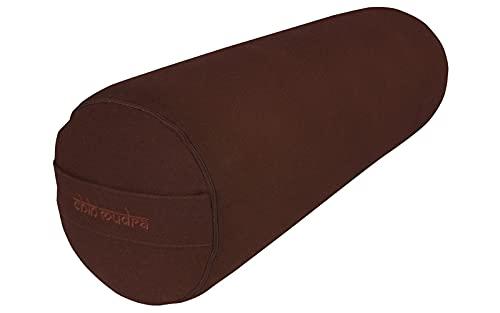 Bolster de Yoga XL 100%Coton Bio 76 cm x 25 cm KAPOK - Chocolat