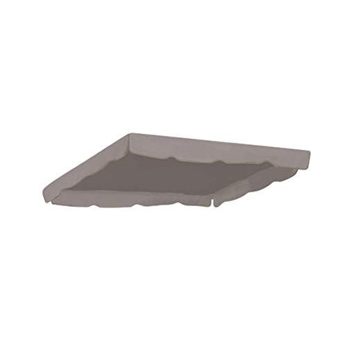 Gartenschaukel Stuhl Markise Wasserdicht Obere Abdeckung Canopy Ersatz for Garten-Hof Ourdoor Schaukel Hängesessel Canopy (Color : Grey)