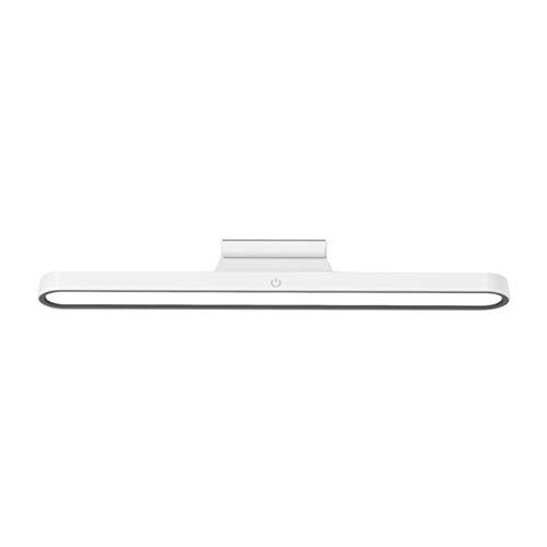Fenteer Lámpara de Lectura de Pared Lámpara de Litera Luces Táctiles Regulables Montadas Debajo del Gabinete Iluminación LED Recargable Armario Cocina Bar por - Blanco, Individual