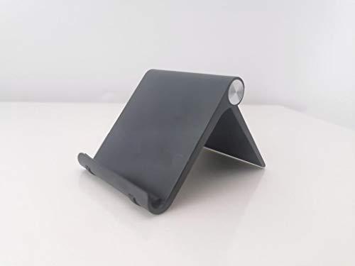 """Nuevo Soporte Universal Reforzado Ajustable para Móvil, Lector Libros Electrónico, Tablet 4""""-7,2"""" Multiángulo 0-100 grados,Diseño de Mesa,Apple (Iphone-Ipad) Samsung Huawei Xiaomi (Color Negro) )"""