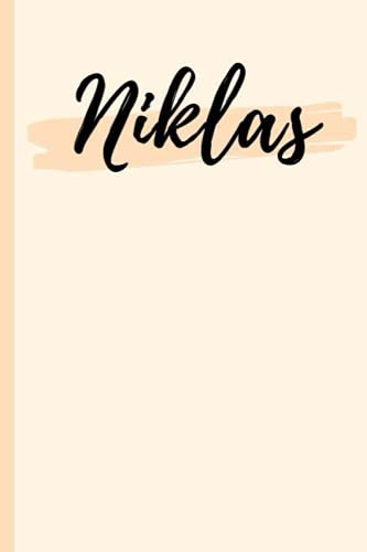 Niklas: A Personalized Notebook Gift for Niklas Lined Writing 120 Pages 6x9 inches