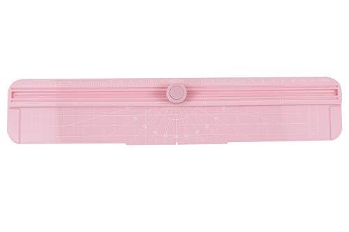 持ち運びに便利なRC4100ペーパーカッターは、名刺、紙、写真に使用できます。切断能力は70gのA4紙12枚で、色はピンクです