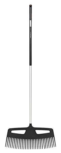 Fiskars Laubbesen mit extrem strapazierfähigen Zinken, Länge: 176,5 cm, Breite: 61,5 cm, Schwarz/Orange, Aluminium/Kunststoff, XXL, Xact, 1027036