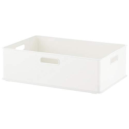 サンカ 収納ボックス Mサイズ ホワイト色 (幅389×奥行266×高さ120) squ+ インボックス SQB-M-WH 日本製