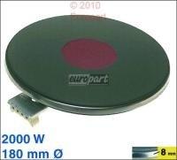 Unbekannt Kochplatte 180mmØ, 2000W 230V, passend zu Geräten von:AEG Agni Alno-Küchen (Z.