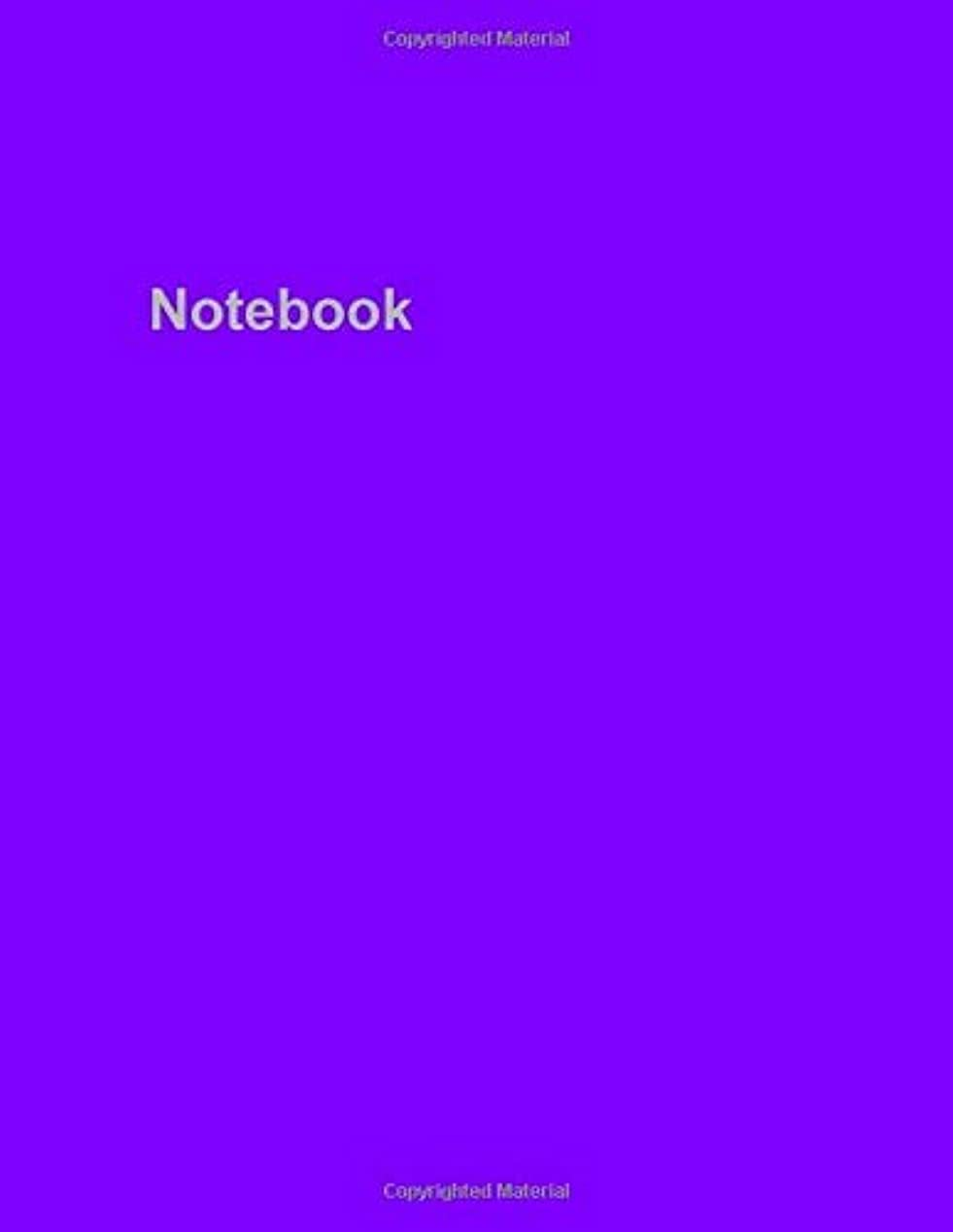 Notebook: Lined 8.5 x 11 (inches) White Paper Notebook - 104 Pages - Cover: Purple [並行輸入品]
