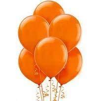 Gemar - 100 globos para fiestas, globos de látex para helio o graduación, globos, bodas, fiestas, decoración, cumpleaños, aniversario (color naranja)