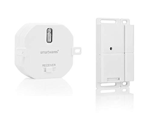 Smartwares Funk Abluftsteuerung für Dunstabzugshauben: Funk-Einbauschalter + Fenster Magnetkontakt