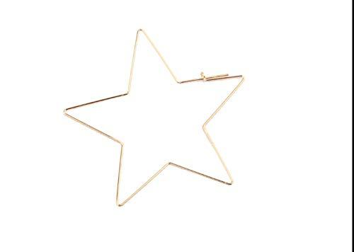 Wpj oorbellen accessoires verguld kleur extreem eenvoudige holle grote liefde vijfpuntige ster is oorbellen temperament oorbel overdreven
