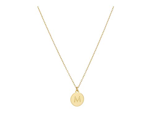 Kate Spade New York M Mini Pendant Necklace Gold One Size