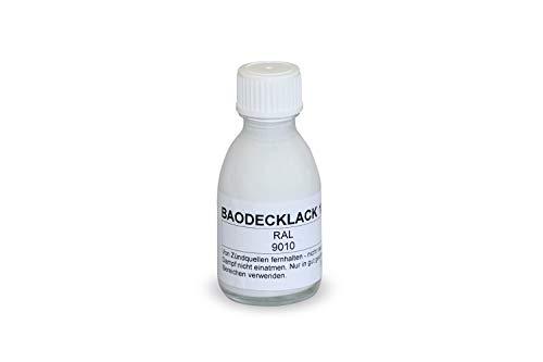 BAO Reparaturlack für Sockelleisten weiß (RAL 9010) - 30 ml 2201559