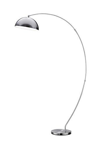Lámpara de pie con 4 luces, LED, 4,5 W, LED, Osram, regulador de pie, color níquel