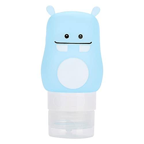 ZHenMei - Set di bottiglie da viaggio in silicone a prova di perdite, approvate, spremibili e portatili, per shampoo, crema solare e articoli da toeletta, ecc.