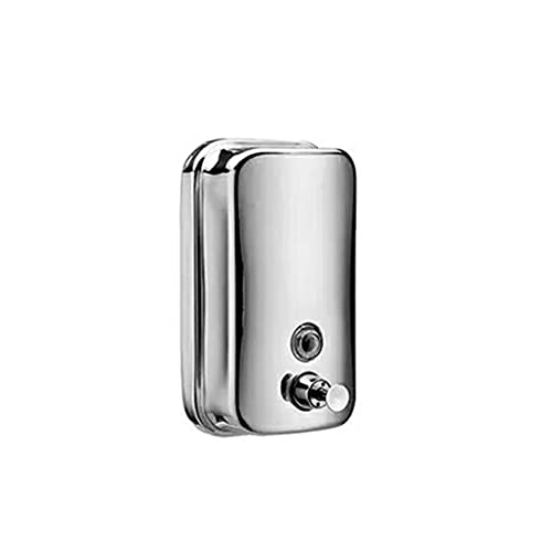 YQCH Dispensador de jabón Cepillado Acabado de níquel Ducha Bomba de Ducha Champú y Acero Inoxidable Montado en la Pared Herrajes de baño Moderno (Color : 1000ml)