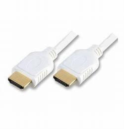 VS-ELECTRONIC - 610671 HDMI-kabel, ST-A/ST-A verguld, 7,5 m lengte, wit CO77477-W