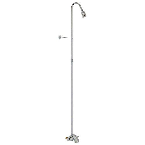 EZ-FLO 11127, Chrome Wall-Mount Bath Cock Add-On Shower Unit