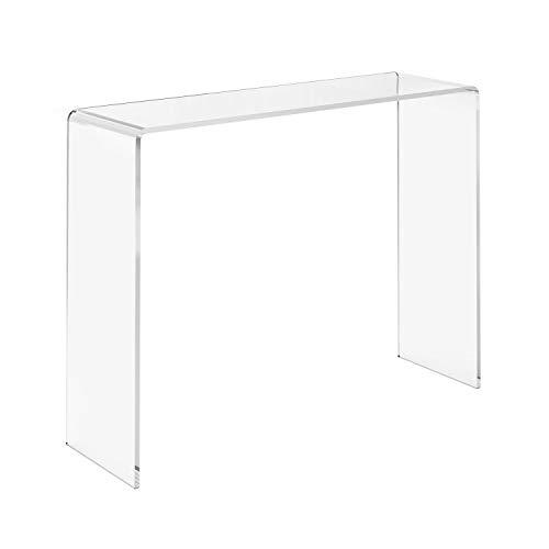 LuceSolida - 'Ribbon Consolle' Tavolino Consolle in Plexiglass Trasparente Profondità 30 cm Varie Misure (70x30xh75 cm - Spessore 12 mm)