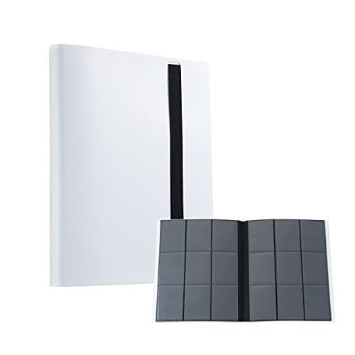 Locisne Bolsa para álbum de fotos de 20 páginas 360, estuche para tarjetas de visita de tamaño estándar con funda para tarjetas coleccionables, bolsillo lateral de PP