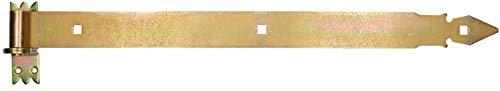KOTARBAU® Ladenband 600 mm mit Kloben Torband Türband Torscharnier Scharnier Band Baubeschlag Torbeschlag Türbeschlag Rostfrei Torzubehör Verzinkt Gelb