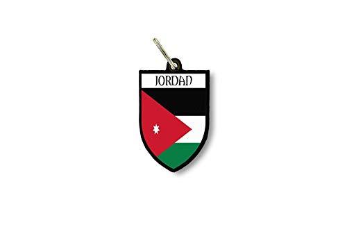 Sleutelhanger Sleutelhanger Ring Vlag Nationale Souvenir Schild Jordanië