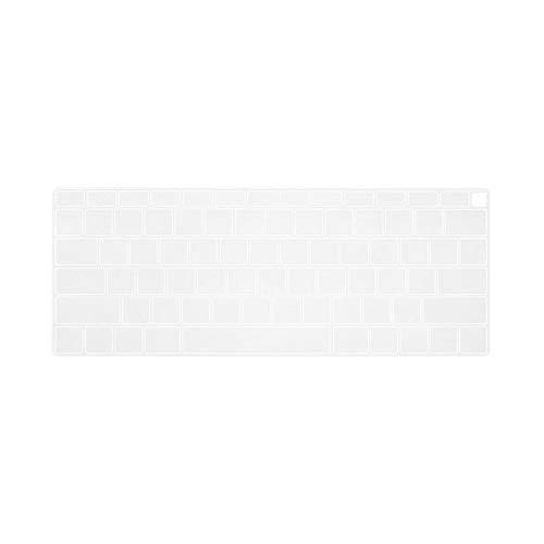 Cubierta de teclado para ordenador portátil de silicona suave colorido protector de la piel de película anti-polvo impermeable para MacBook Air de 13 pulgadas 2018 lanzamiento A1932-transparente-