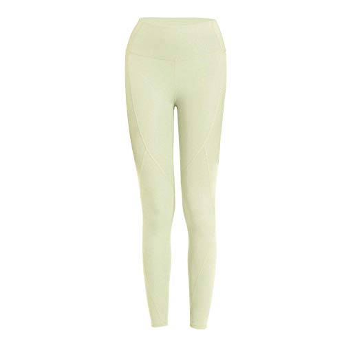 B/H Pantalones de Yoga de Control de Abdomen de Cintura Alta,Mujer Mallas Deportivas,Fitness Running Yoga Damas Medias Transpirables Hip Lift-Green_XL #